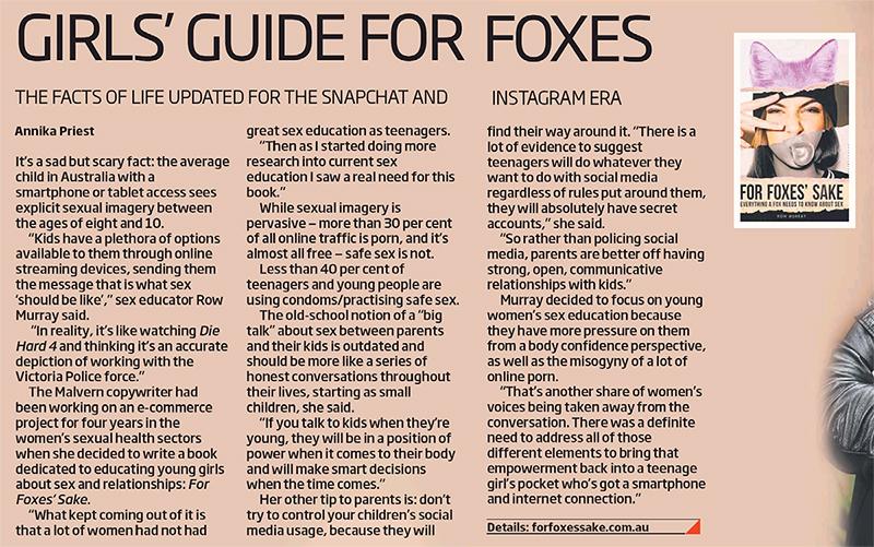 Row Murray For Foxes Sake